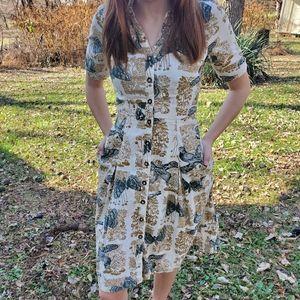 Anthropologie Girls from Savoy Bird dress